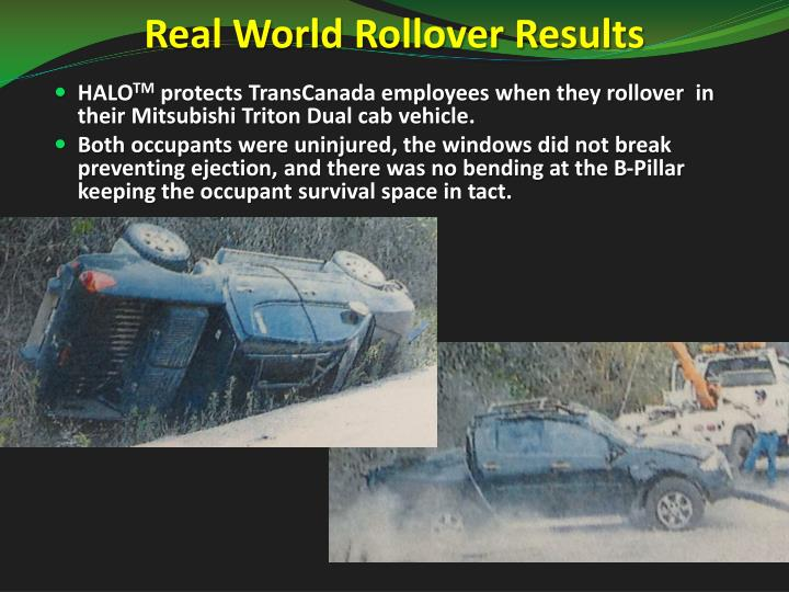 Real World Rollover Results