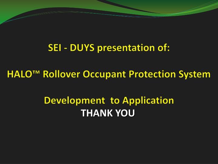 SEI - DUYS presentation of: