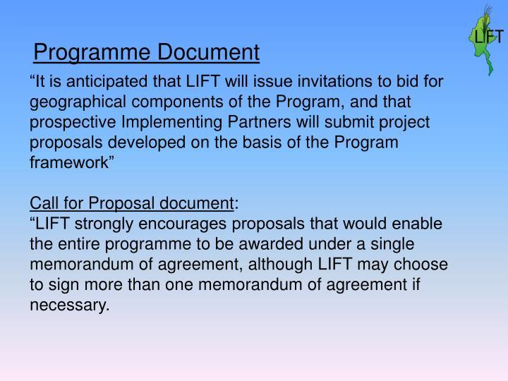 Programme Document