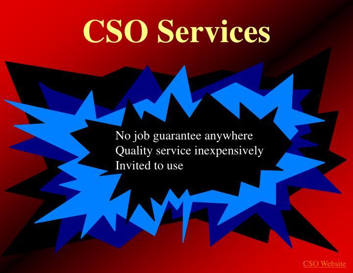 CSO Services
