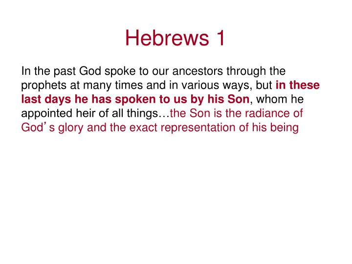 Hebrews 1