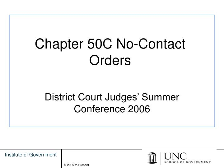 Chapter 50c no contact orders