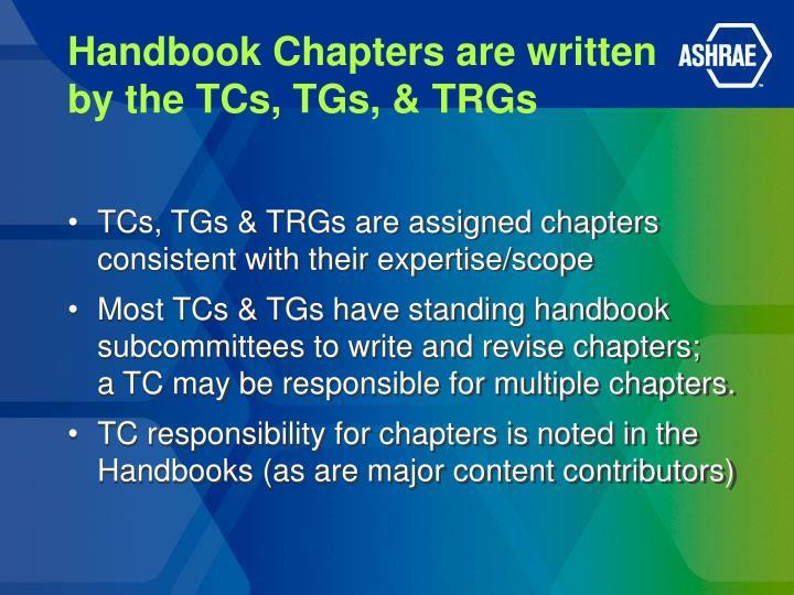 Handbook Chapters are written