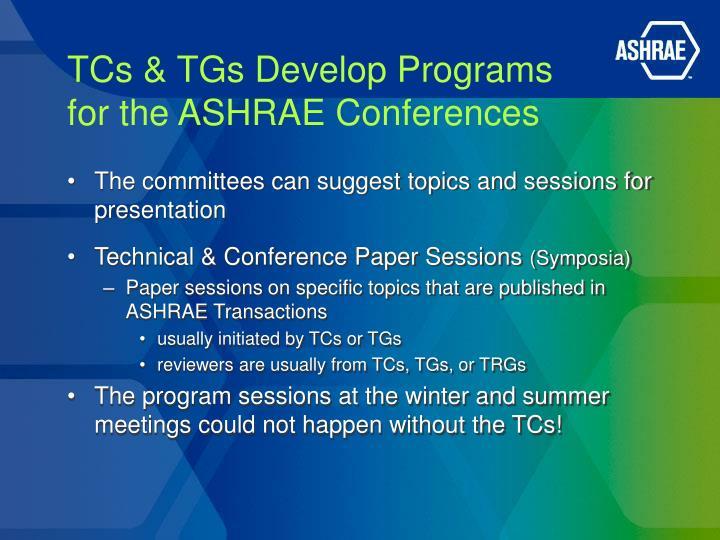 TCs & TGs Develop Programs