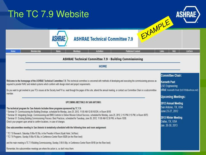 The TC 7.9 Website
