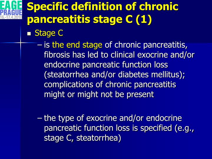Specific definition of chronic pancreatitis stage C (1)