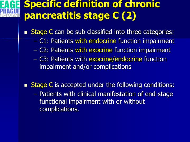 Specific definition of chronic pancreatitis stage C (2)