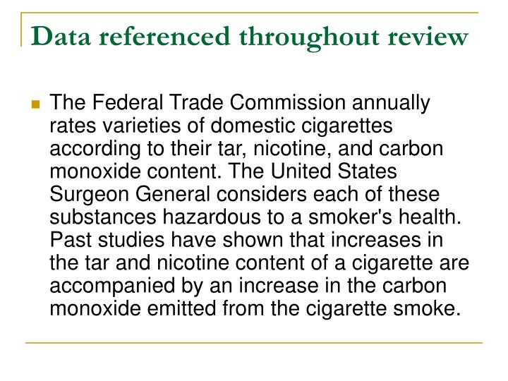 Data referenced throughout review