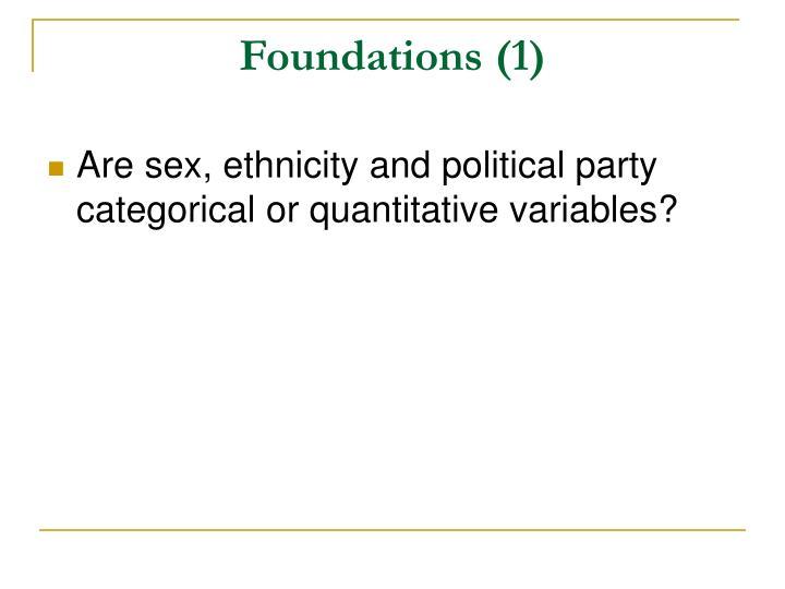 Foundations (1)