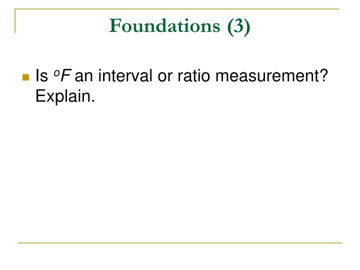 Foundations (3)