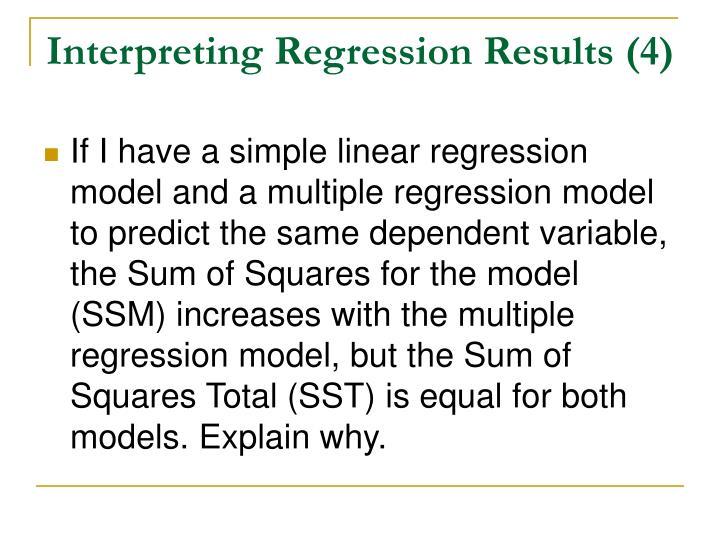 Interpreting Regression Results (4)