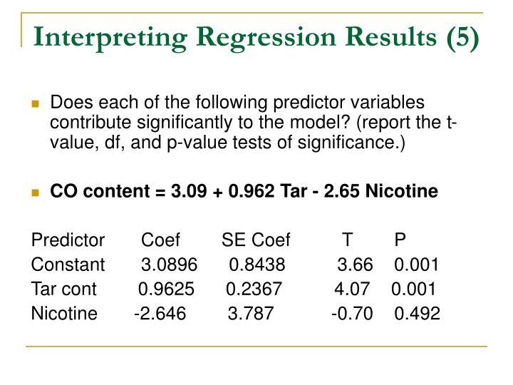 Interpreting Regression Results (5)
