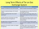long term effects of tar on gas exchange system1