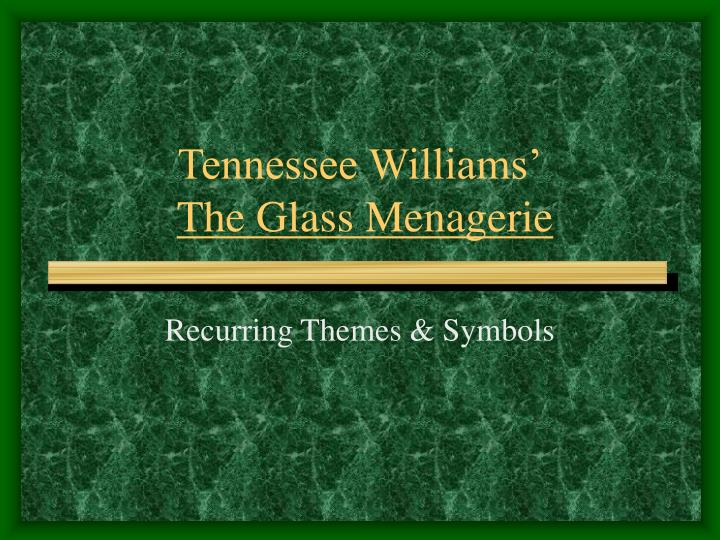 analytical essay the glass menagerie Amanda wingfield is the most prominent and dynamic character in the play she is described by williams as a little woman of great but confused vitality clinging frantically to another time and place.
