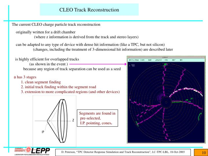 CLEO Track Reconstruction