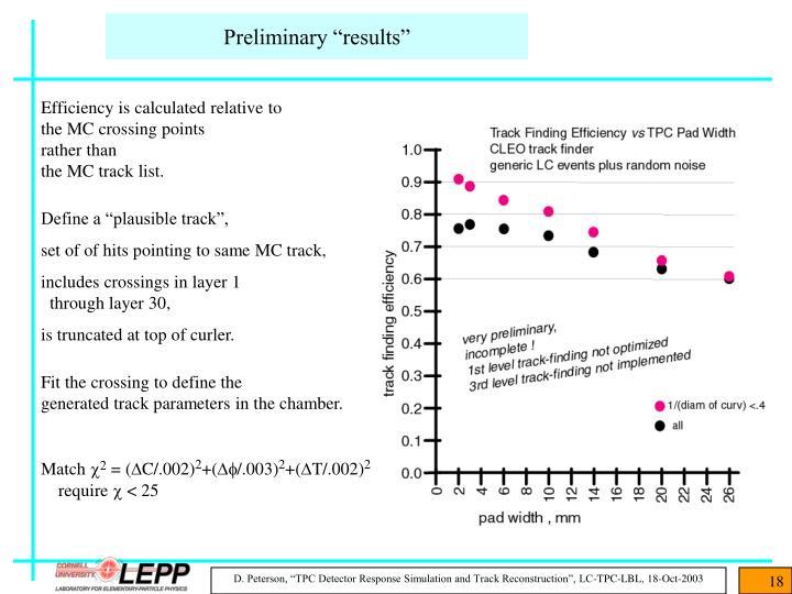 """Preliminary """"results"""""""