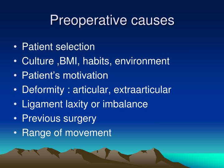 Preoperative causes