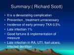 summary richard scott