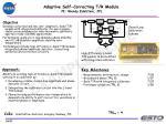adaptive self correcting t r module