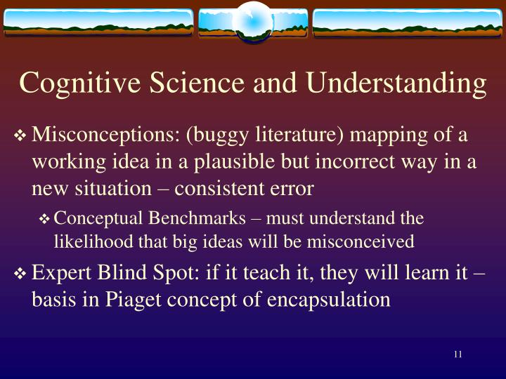 Cognitive Science and Understanding