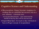 cognitive science and understanding1