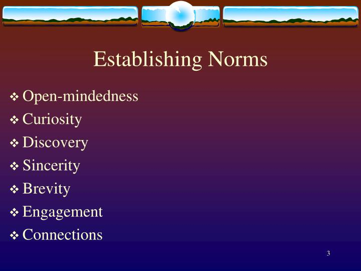 Establishing norms
