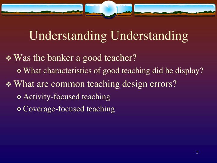 Understanding Understanding