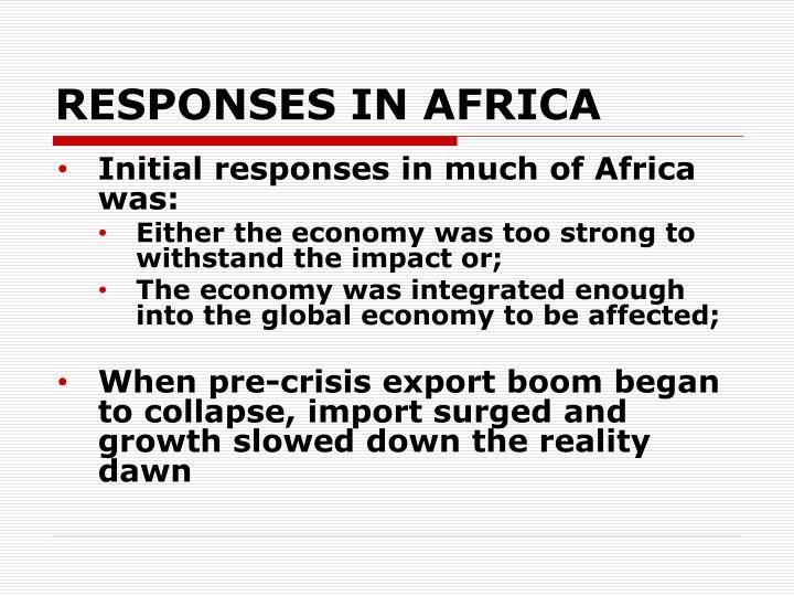 RESPONSES IN AFRICA