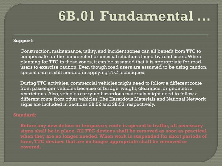 6B.01 Fundamental …
