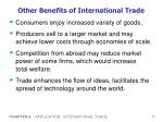 other benefits of international trade