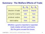 summary the welfare effects of trade