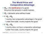 the world price and comparative advantage