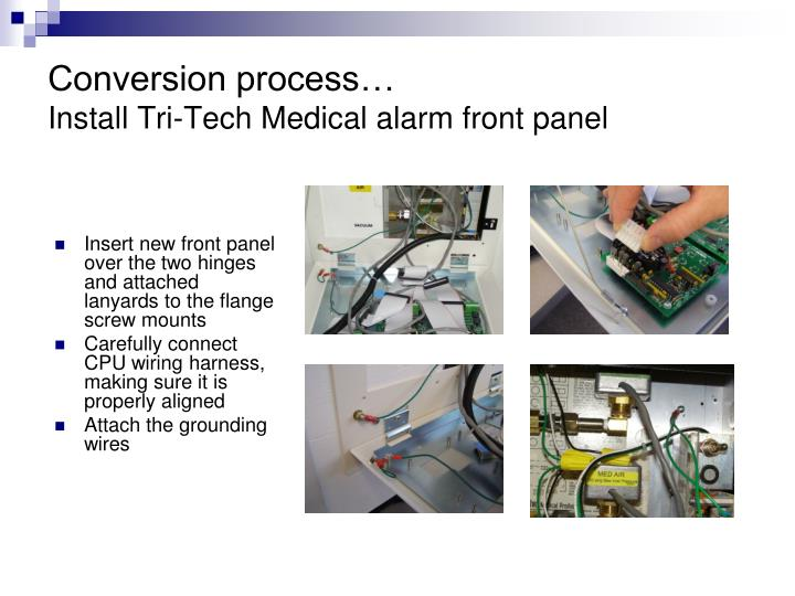 Conversion process…
