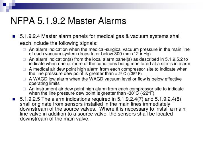 NFPA 5.1.9.2 Master Alarms