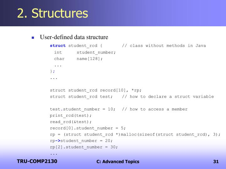 2. Structures