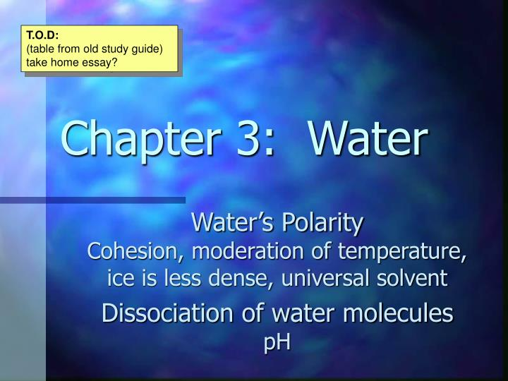 water essay biology
