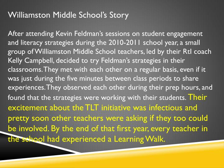 Williamston Middle School's Story