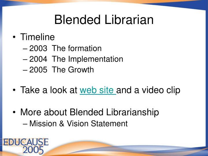 Blended Librarian