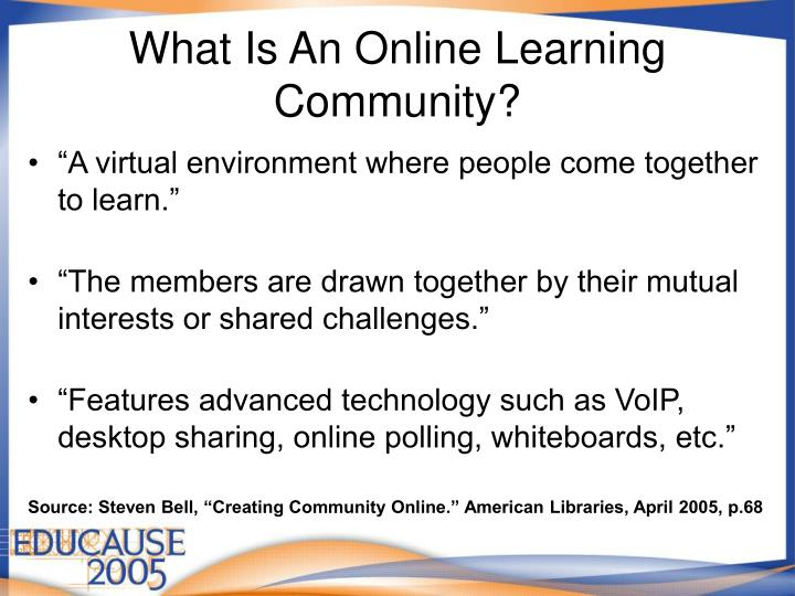 What Is An Online Learning Community?