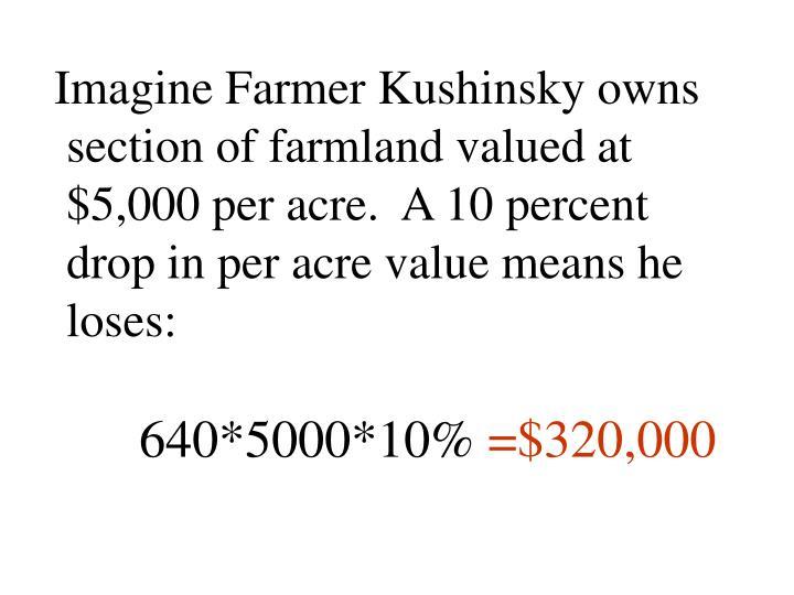 Imagine Farmer Kushinsky owns