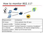 how to monitor 802 11