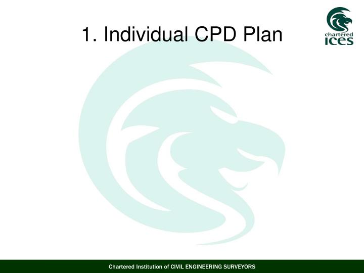 1. Individual CPD Plan