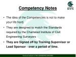 competency notes
