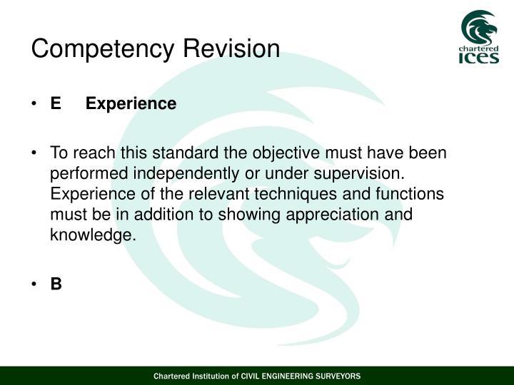 E     Experience