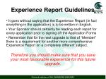 experience report guidelines1