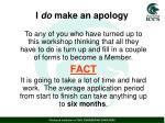 i do make an apology1
