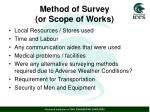 method of survey or scope of works2