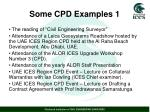some cpd examples 1