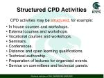 structured cpd activities