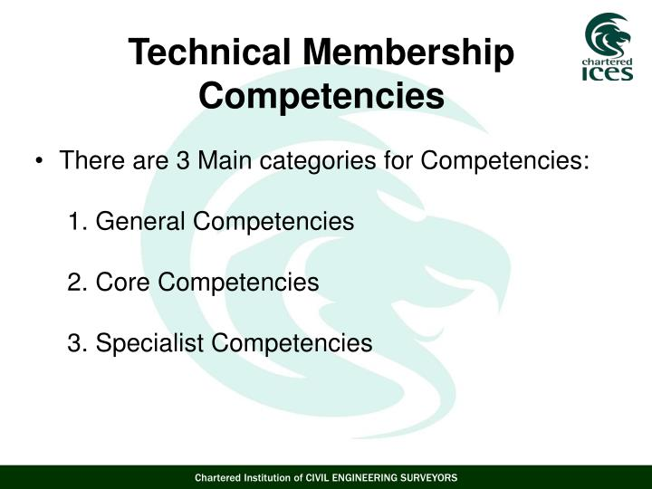 There are 3 Main categories for Competencies: